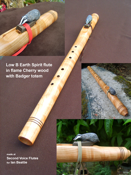 low B NA flute with badger block