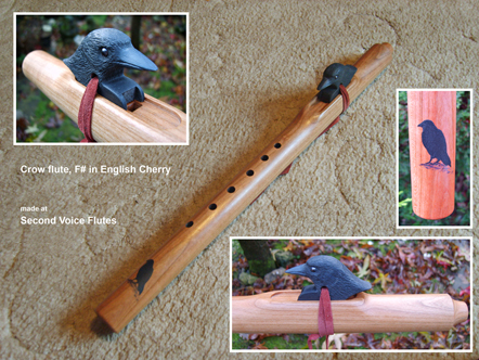 Crow flute Native American style - click to enlarge
