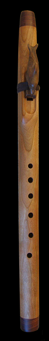 Rippled Cherry Dolphin flute in F with Kingwood endcaps